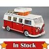LEPIN 21001 1354Pcs Technic Series T1 Camper Van Model Building Kits Set Bricks Toys Compatible 10220