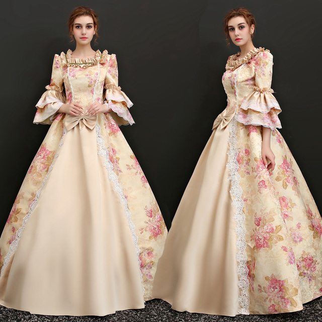 Georgian Pink Southern Belle Victorian Gothic Formal Dress In