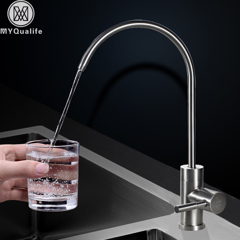 Stainless Steel drinking tap pure water Kitchen faucet drinking water Tap Deck Mounted Brushed Nickel Cold Water Kitchen Faucet