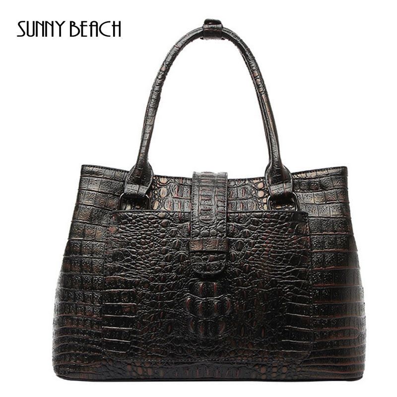 new Luxury Women Bags Designer Women Crocodile Bag 100% Genuine Leather Women Handbag Hot Selling Tote Women Bag hot selling 2017 new fashion 1 1 quality genuine leather women handbag speedy bag 30 35cm with starp free shipping