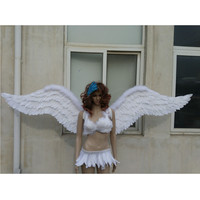 EMS free shipping Model Catwalk shows stage show large feathered wings fairy angel wings white black red shooting props