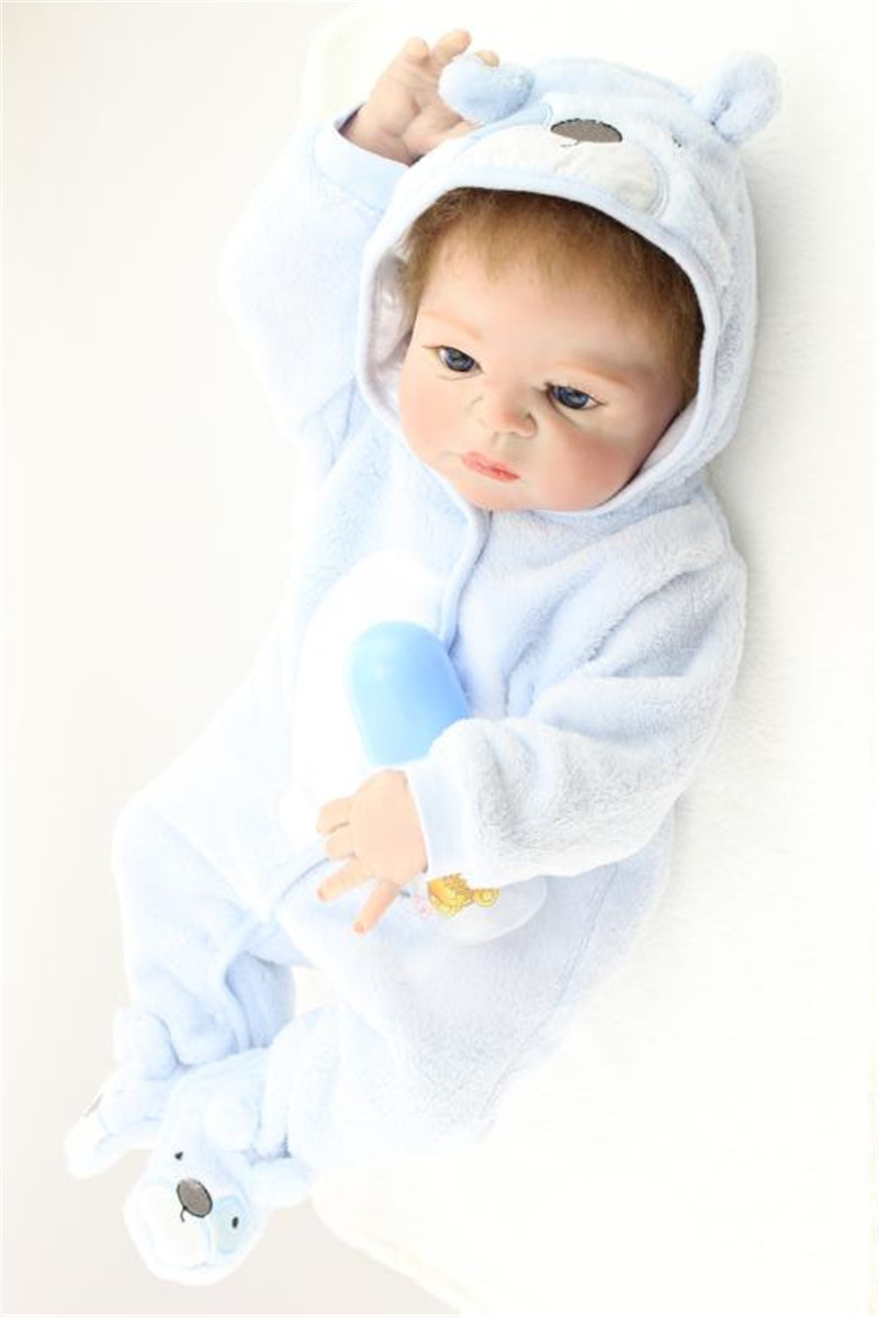 Real Looking Newborn Doll Silicone Reborn Doll with Clothes,20 Inch Lifelike Baby Toys for Children Christmas Gift 20 inch silicone reborn dolls sleeping baby bonecas with clothes real looking newborn baby doll toys for girls children