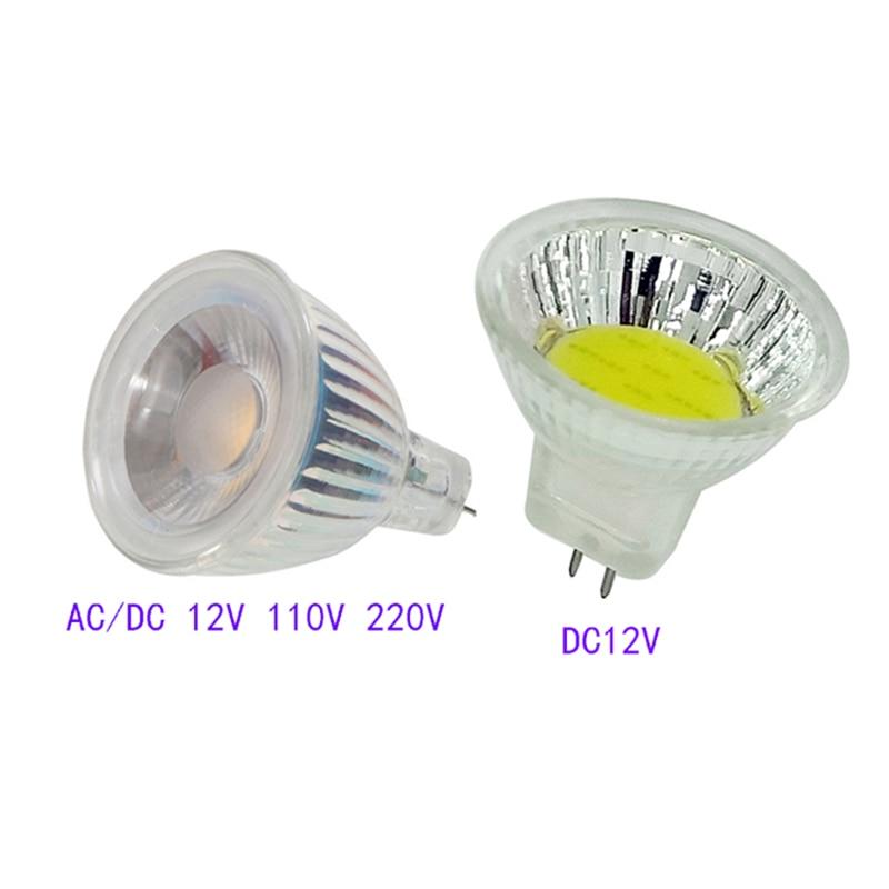 MR11 COB Led Spotlight 12V 110V 220V Dimmable Led Lamp Bulb 3W 7W 9W LED Light Warm/Cold White GU4 Glass Bulb Energy Saving Lamp