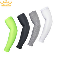 ARSUXEO 1 Pair Outdoor Sports Cooling Arms Sleeves Cycling Basketball Cover UV Sun Protection L Size