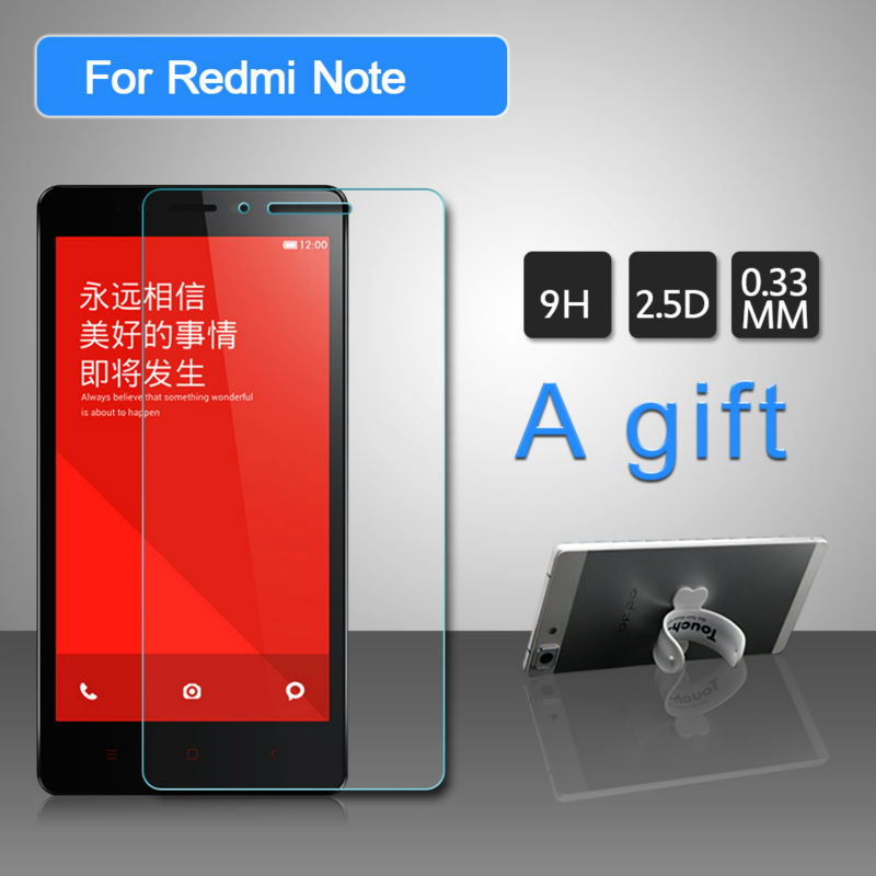 Tempered Glass Screen Protector Cover For Xiaomi Redmi Note 4G 9H 2.5D 0.33mm Anti Shock Protective Film for Redmi Note