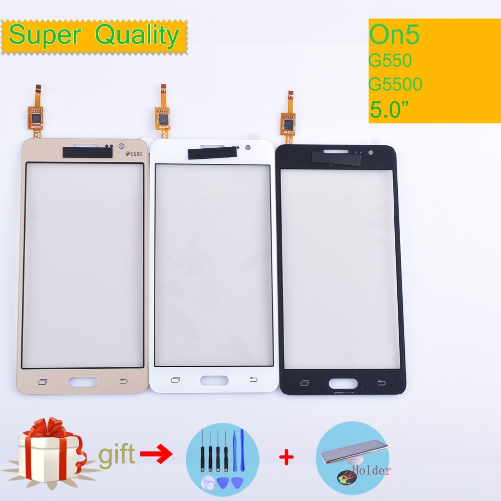 For Samsung Galaxy On5 G5500 G550 G550FY G550T Touch Screen Panel Sensor Digitizer Glass Touchscreen NO LCD black white gold