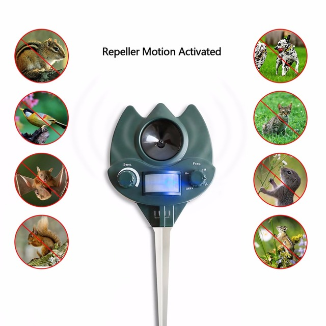 New Arrival Ultrasonic Animal Repeller Dog, Cat Repellent  Pest Control for Home,Garden,Lawn #32023