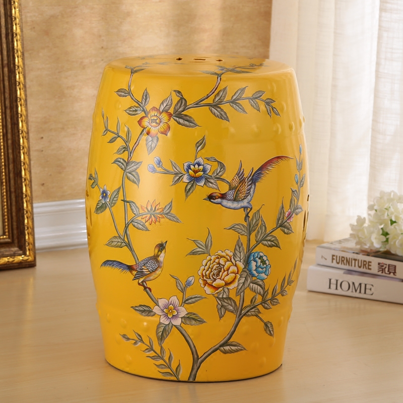 Beautiful Flower And Bird Design Porcelain Gard Stool For Indoor And Outdoor beautiful darkness