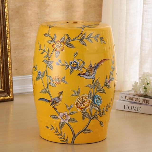 Bela Flor E do Projeto do Pássaro da Porcelana Fezes Gard Para Uso Indoor E Ao Ar Livre
