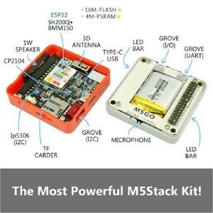 Image 2 - M5Stackใหม่PSRAM 2.0! FIRE IoT Kit Dual Core ESP32 16M FLash + 4M PSRAM Development Board MIC/BLE SH200Q + BMM150ของMicropython