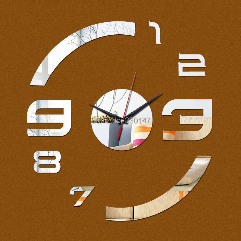 Acrylic Mirror Wall Clock Art Figure Numbers With Self ...