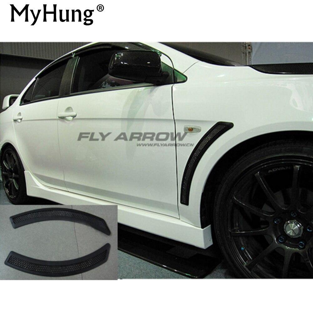 Автомобиль Стайлинг fender vent декоративные наклейки CJ ES Evo охранник для Mitsubishi Lancer EX V3 V5 V6 2009 2010 2011 2012 2013 2014 2 шт.