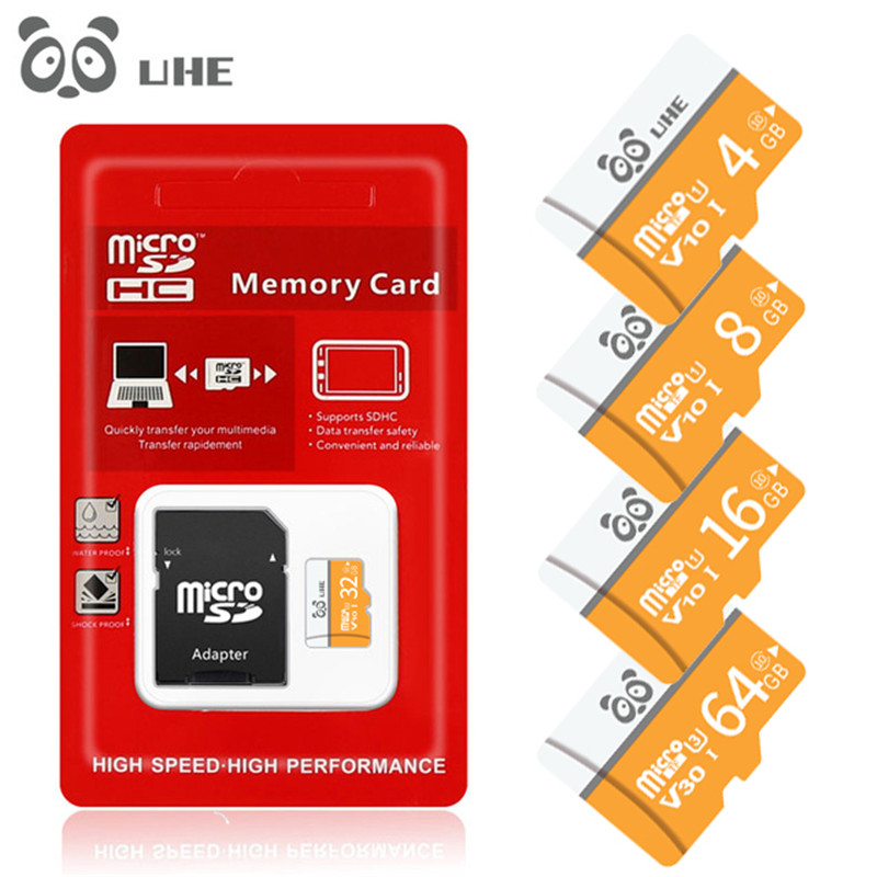 Microsd Memory Card 64GB U1 32GB 16GB 8GB 4B Micro Sd Card Class10 Flash Card High Speed Memory Microsd TF/SD Cards Adapter Gift