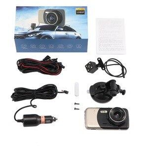 Image 5 - 4.0 Inch Dual Lens Car DVR Camera 170 Degree Auto Driving Recorder G sensor 1080P Dash Cam with Rear View Camera