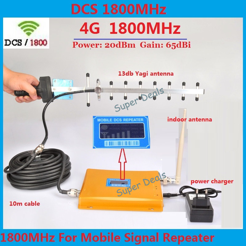 LCD Display ! GSM Repeater 1800 Repetidor 4G DCS 1800mhz GSM Cellular Signal Booster Repeater Amplifier + Yagi antenna Full KitsLCD Display ! GSM Repeater 1800 Repetidor 4G DCS 1800mhz GSM Cellular Signal Booster Repeater Amplifier + Yagi antenna Full Kits