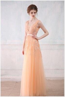 Robe De Soiree SSYFashion, кружевное, с бисером, сексуальное, с открытой спиной, длинное вечернее платье, для невесты, банкета, элегантное, длина до пола, для вечеринки, выпускного вечера - Цвет: Dark Champagne