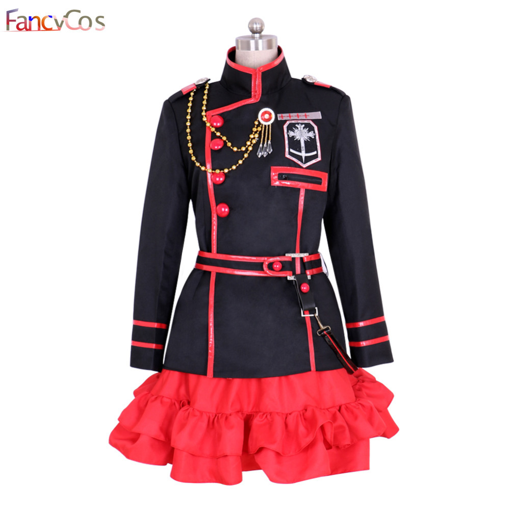Halloween Women's D Gray-man III Lenalee Lee Uniform Cosplay Costumes Adult Costume Movie High Quality
