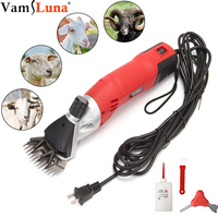 500 Вт электрическая для стрижки овец Ножницы стригальная машинка Коза триммер для удаления волос собаки ножницы 13 зубьев лезвия 6 л