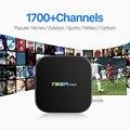 Android 6.0 Caixa De TV Amlogic S912 2.4 GHz Octa Core 2/8G 1080 P Caixa de TV inteligente com Frete 1700 Árabe IPTV Europa Itália Francês conta