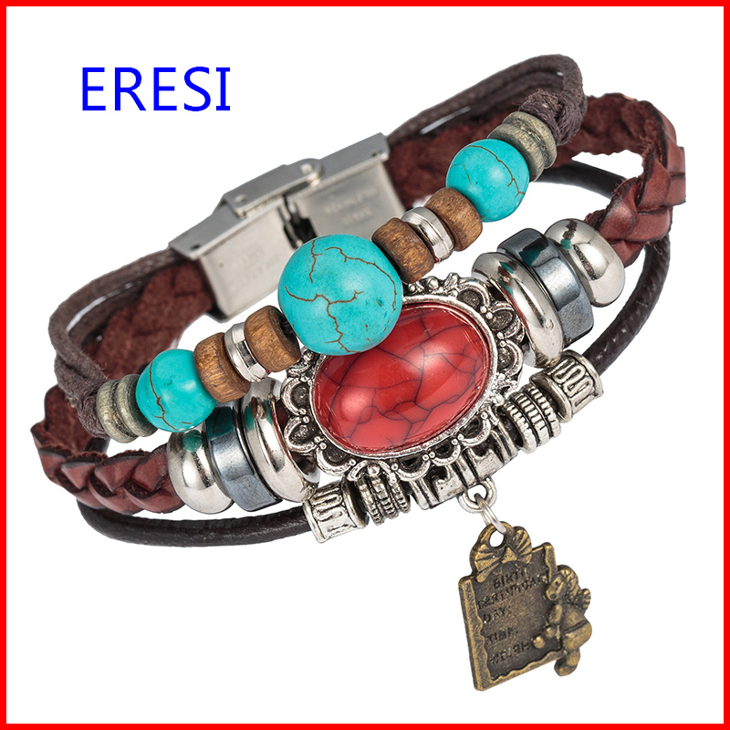 Trendy Lover Bracelet With White and Red Natural Stone Bracelet Stocks Selling Cheap Price 2018 Fashionable Jewelry