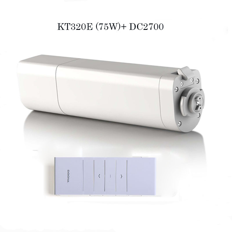 все цены на 2017 Ewelink Dooya Home Automation Electric Curtain Motor KT320E-75W+DC2700 Remote Controller for Automation curtain track онлайн