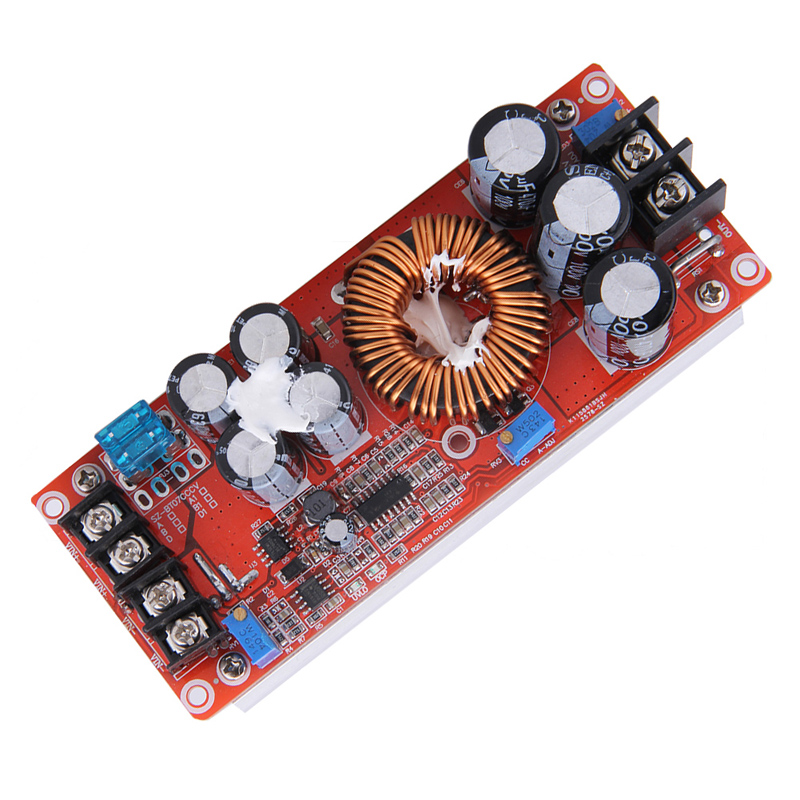 High Efficiency 1200W DC-DC Boost Converter Power Supply 8-60V 12V Step up to 12-83V 24V 48V 20A 1pcs 1500w 30a dc dc cc cv boost converter step up power supply charger adjustable dc dc booster adapter 10 60v to 12 90v module