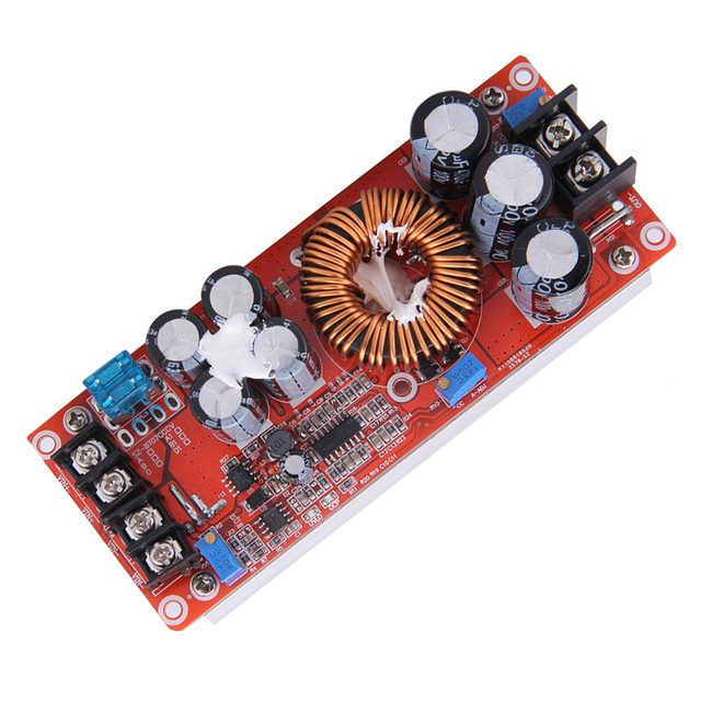 High Efficiency 1200W DC-DC Boost Converter Power Supply 8-60V 12V Step up to 12-83V 24V 48V 20A