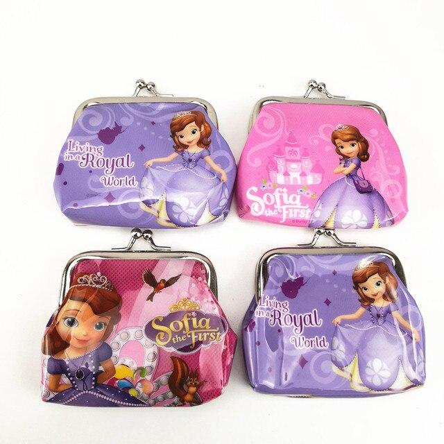 816f2811c92 1 unid 9*9 cm de Dibujos Animados Pequeña Princesa Sofia Mini Monedero del  Bolso