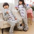 Totoro Pijama Terno Animal Kigurumi Crianças Traje Meninos Meninas Trajes Cosplay Anime Totoro TOTORO Onesies Sleepsuit Partido Do Gato
