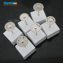 12 pcs + 2 Mandrel Dental Ultra-thin Double Sided Diamond Cutting Disc for separating polishing ceramic crown plaster or jade