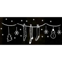 Window Wall Stickers Merry Christmas Wall Art Removable Home Decor Shop Vinyl Decal Christmas Stocking decoracion para navidad