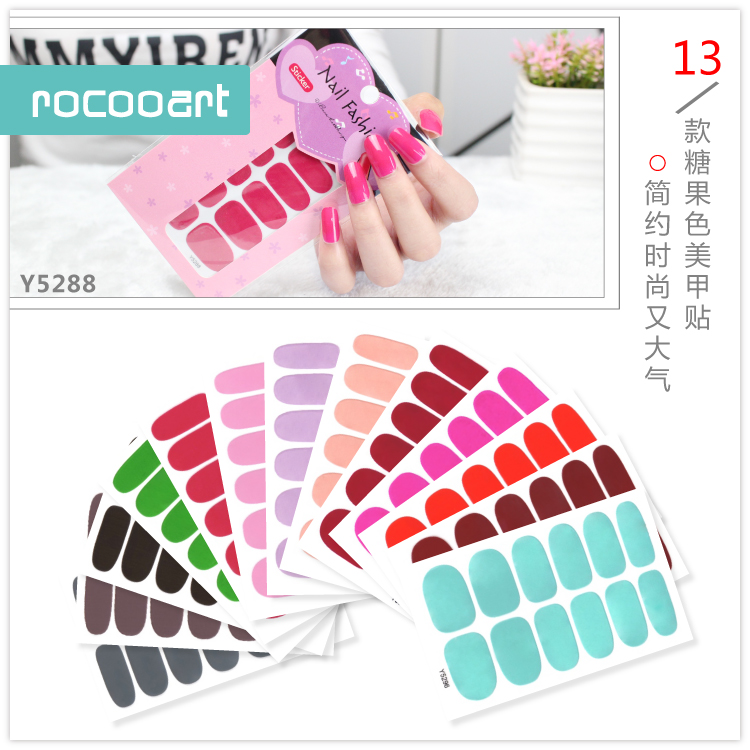 Free Shipping New 2017 Hot 13 Single Pure Color Series Classic Collection Manicure Nail Polish Strips Nail Wraps,Full Nail Sheet free shipping new 2017 hot 13 single pure color series classic collection manicure nail polish strips nail wraps full nail sheet