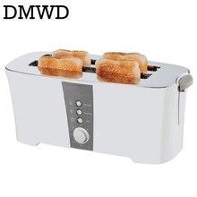 DMWD 4 шт слота, автоматический тостер для выпечки, многофункциональная печь для тостов, печь для выпечки, машина для завтрака, хлебопечка, 4 ломтика, 220 В-240 В, штепсельная вилка европейского стандарта