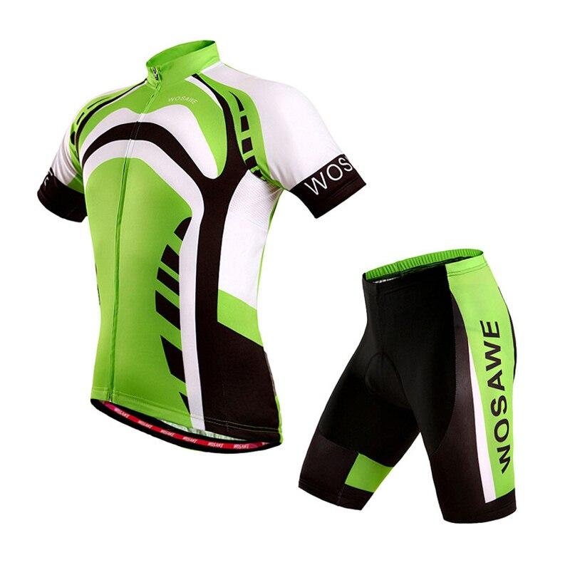 Women Men Breathable Summer Cycling Sets Gel Man Short Cycling Jersey Set Pro Sport Wear Gel Pad Bib Shorts Wear Uniforms