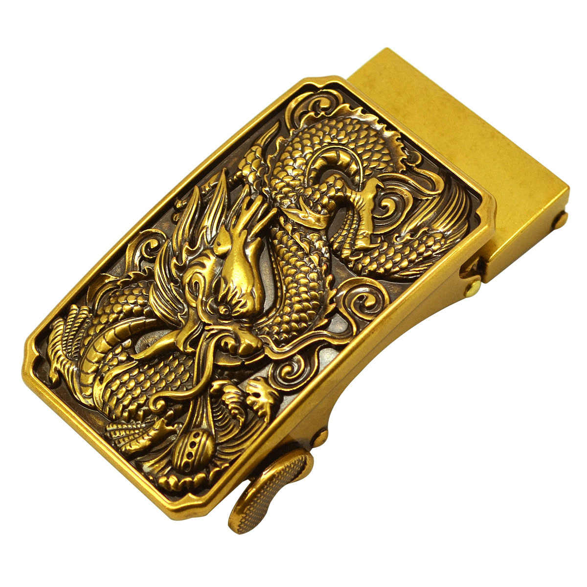 جديد العتيقة التلقائي مشبك الرجال حزام رئيس الرجعية سبيكة مشبك بنطلون حزام مشبك رئيس الذهبي صنبور مشبك الفاخرة الموضة