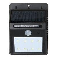 8 LED Security Solar Powered Light PIR Motion Sensor Light Path Wall Lamps Outdoor Garden Emergency