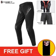 GHOST RACING Waterproof Protective Motorcycle Riding Pants Men With Inner Outer Knee Protector Motorbike Motocross Racing Suits motorcycle summer pants men mesh cloth breathable racing motorbike pants moto motocross pants with eva protector
