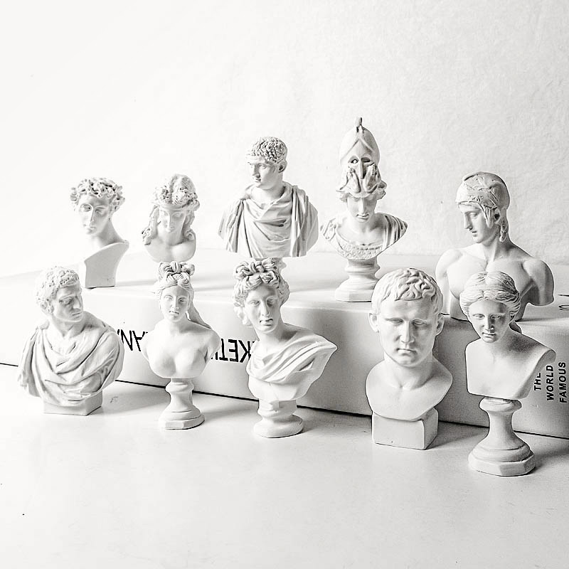 Crafts Head-Sculpture Plaster Venus Greek Imitation Resin Retro Nordic Character God