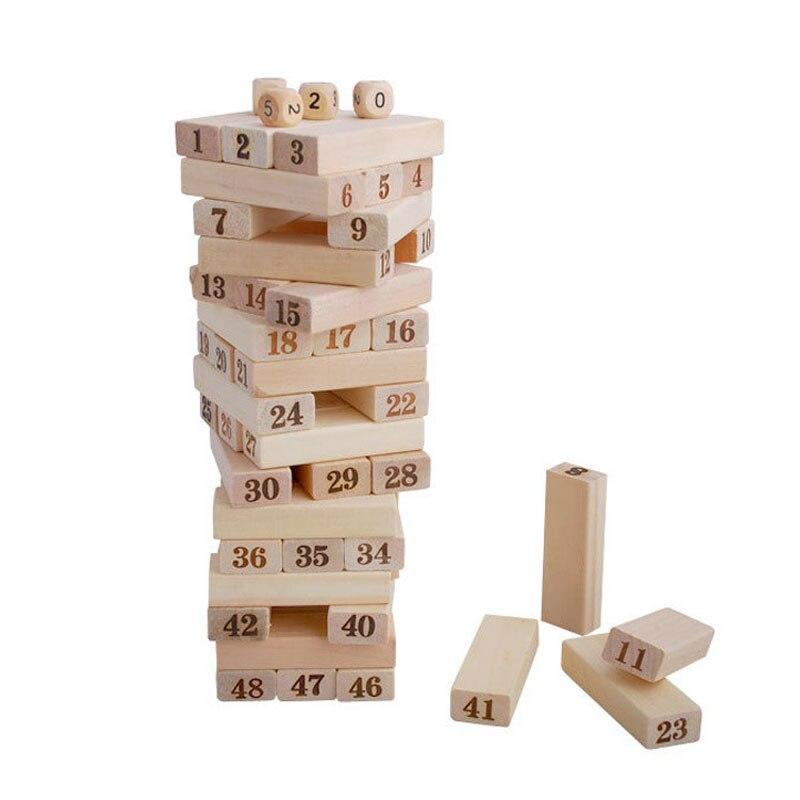 Деревянные головоломки 3D головоломки раннего обучения цифровой Jenga Настольная игра 3D головоломки деревянные игрушки для детей 2018 E2864Z
