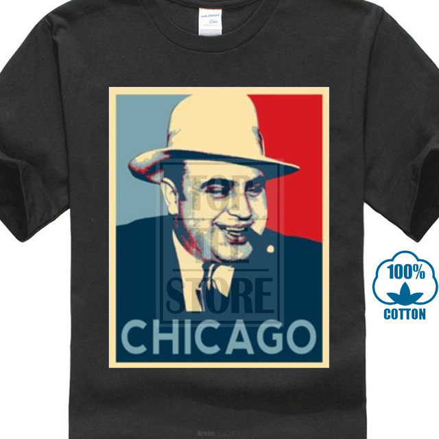 22da21baf20 T Shirts Online Men S Short Sleeve Crew Neck Summer Tee Shirt Al Capone  Italian Gangster Chicago Hope Obama Tee