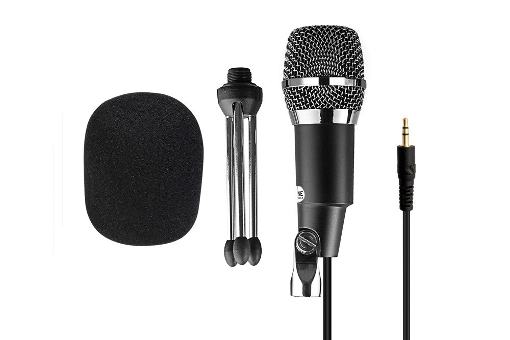 FIFINE 3.5mm Plug Microphone for Radio Online Course Meeting Chat suit for computer PC High Sensitivity Clear Recording K667 3