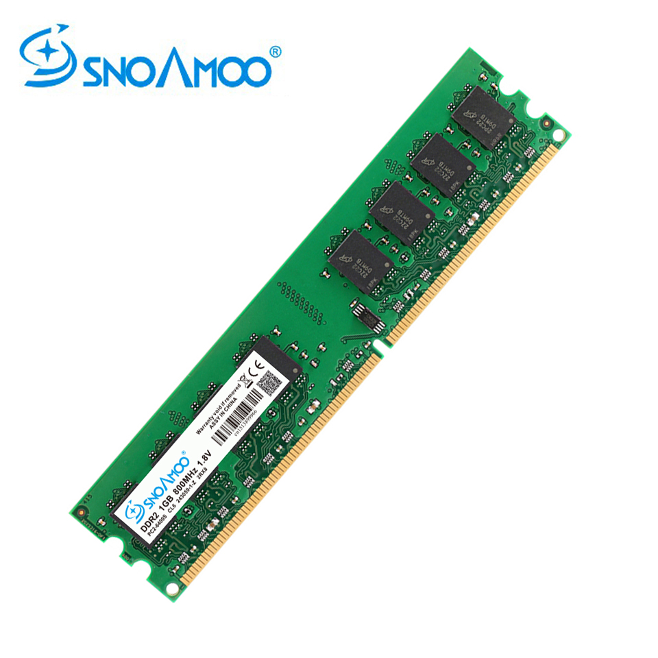 SNOAMOO Desktop PC RAMs DDR2 1G/2GB 667MHz PC2-5300s 800MHz PC2-6400S DIMM Non-ECC 240-Pin 1.8V For Intel Computer Memory