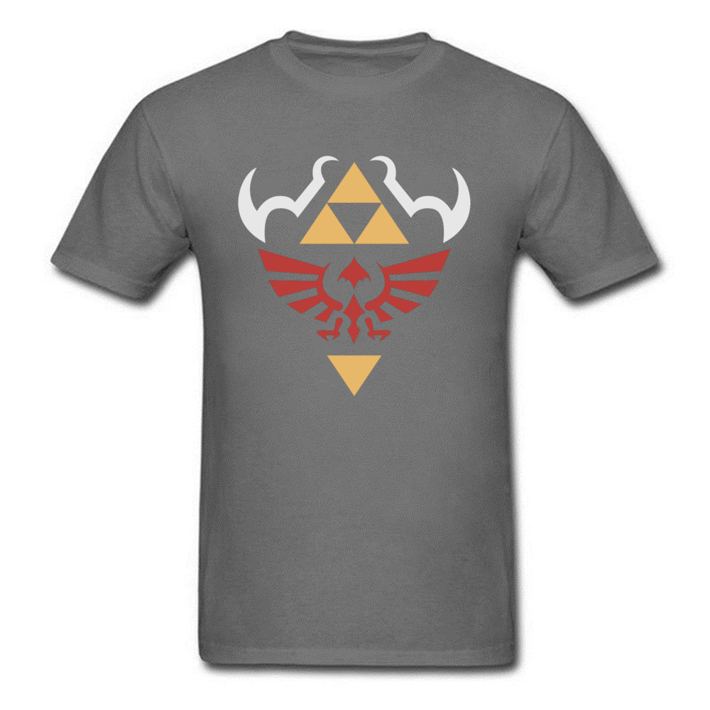 Casual Short Sleeve Tops Shirt Labor Day Round Collar 100% Cotton Men T Shirt Birthday Casual Sweatshirts Designer Zelda Hylian Shield Ocarina of Time Shirt 2 carbon