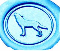 Vintage Wolf Howl Custom Luxury Wax Seal Sealing Stamp Brass Peacock Metal Handle Sticks Melting Spoon