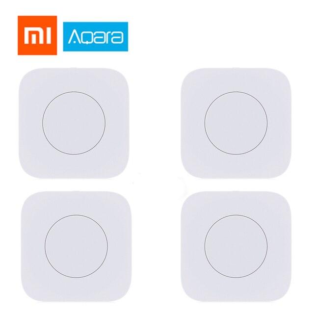 Original Xiaomi Aqara interruptor inalámbrico inteligente llave interruptor inteligente Control remoto ZigBee interruptor wifi kits de hogar mi hogar