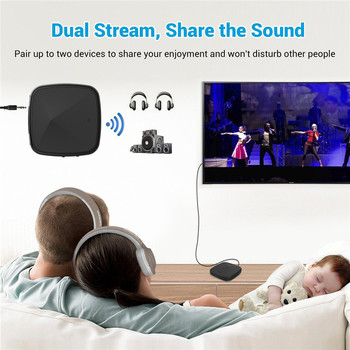 Bluetooth 5.0 Transmitter Receiver CSR8675 Aptx HD/LL Music Wireless Audio Adapter RCA/3.5mm AUX Jack/SPDIF for Xiaomi TV PC Car 2