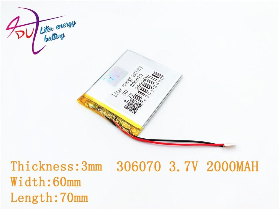 306070 036070 3.7V 2000MAH laetav polümeer aku PSP PDA GPS DVR - Tahvelarvutite tarvikud - Foto 3