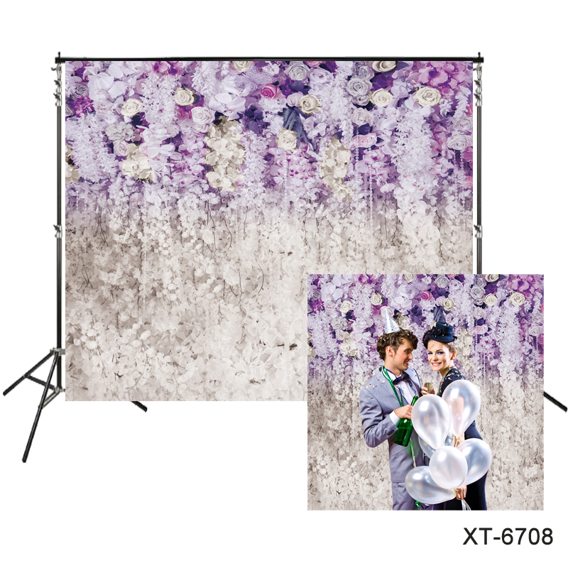 Us 343 11 Offpurple Lavender Blooming Flower Wall Backdrop For Bridal Shower Wedding Background Portraits Photocall Floral Wedding Backdrops In