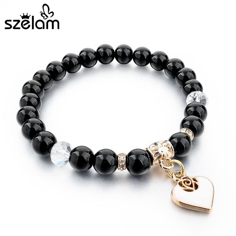 Szelam Bijoux καφέ φυσικό βραχιόλι πέτρα - Κοσμήματα μόδας - Φωτογραφία 6