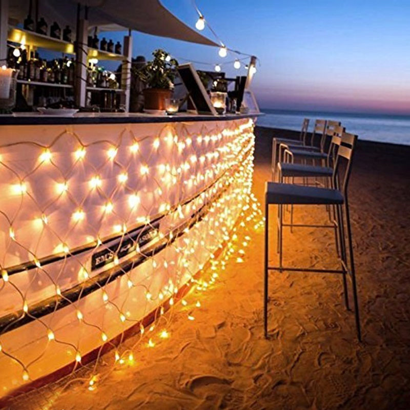 1 5mx1 5m 96LED Net Mesh Fairy web String Light twinkle lamp Lighting Christmas Xmas Wedding Garland Party Decor 4 color choose in Holiday Lighting from Lights Lighting